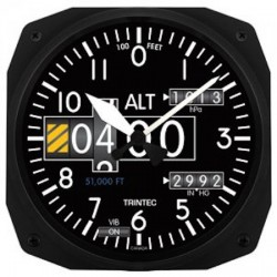 Altimeter Modern Wall clock 25x25cm Horloge Aviation