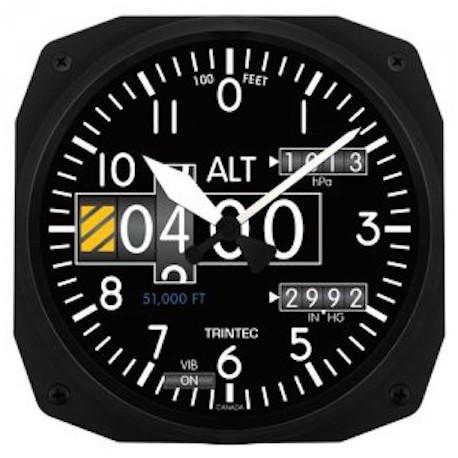 Altimeter Modern Wall clock 25x25cm Horloge Aviation