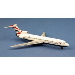 """British Airways Boeing 727-200 ZS-OBM """"UK Flag Schem"""" Aeroclassics 1/400"""