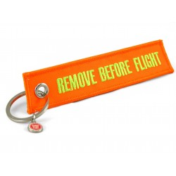 PORTE CLE REMOVE BEFORE FLIGHT VIOLET/ORANGE/VERT