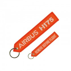 "PORTE CLE AIRBUS HELICOPTERS H175 ""REMOVE BEFORE FLIGHT"" ORANGE FLUO"