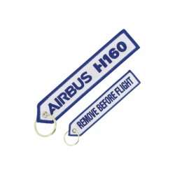 "PORTE CLE AIRBUS H160 ""REMOVE BEFORE FLIGHT""  BLANC/BLEU"