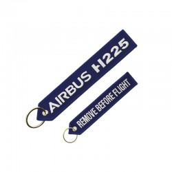 "PORTE CLE AIRBUS H225 ""REMOVE BEFORE FLIGHT"" BLEU"