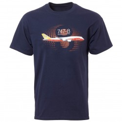 T-Shirt Boeing 747-8 Graphic Profil