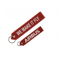 "PORTE CLE AIRBUS LOGO ""WE MAKE IT FLY"" ROUGE"