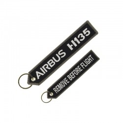 "PORTE CLE AIRBUS H135 ""REMOVE BEFORE FLIGHT"" NOIRE"