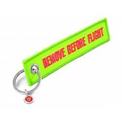 PORTE CLE REMOVE BEFORE FLIGHT VERT FLUO/ ROSE