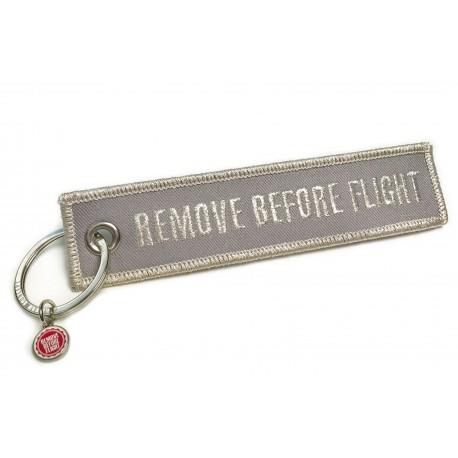 PORTE CLE REMOVE BEFORE FLIGHT ARGENTÉ