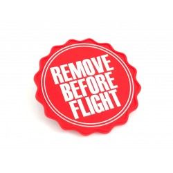 MAGNET ROND REMOVE BEFORE FLIGHT ROUGE