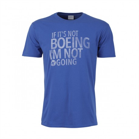 """T-Shirt Boeing """" It's not Boeing, I'm not going """" Bleu"""