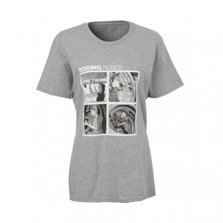 """T-Shirt Boeing FEMME """"RETRO ROSIE ...."""" GRIS"""
