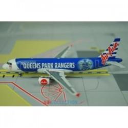 """Air Asia """"Queens Park Rangers Football Club"""" Airbus A320  9M-AFV 1/400 Phoenix Models"""