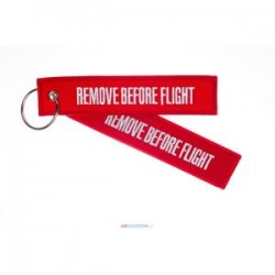 PORTE CLE REMOVE BEFORE FLIGHT ROUGE