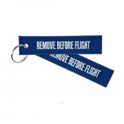 PORTE CLE REMOVE BEFORE FLIGHT BLEU