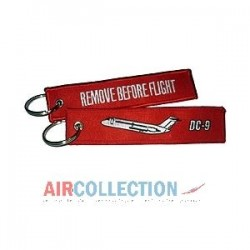 PORTE CLE REMOVE BEFORE FLIGHT DC 9
