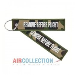 PORTE CLE REMOVE BEFORE FLIGHT CAMOUFLAGE ARMY