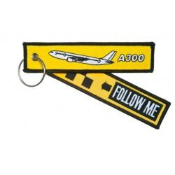 PORTE CLE FOLLOW ME A300 JAUNE