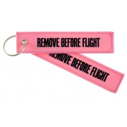 PORTE CLE REMOVE BEFORE FLIGHT ROSE
