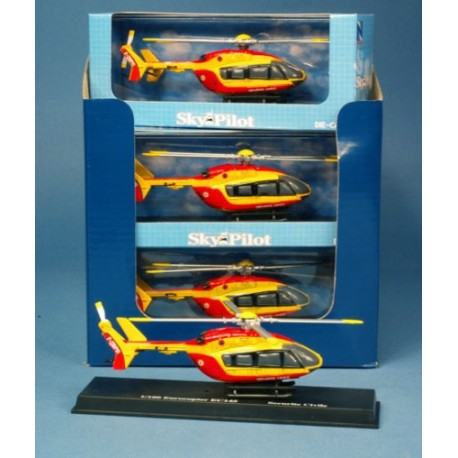 EC145 Securite Civile mini helicoptere metal 1/100 New Ray