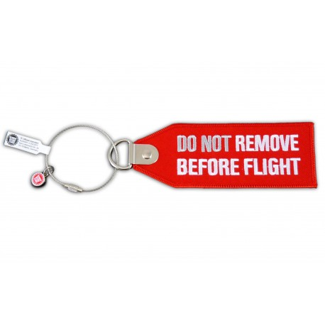 """BAG TAG """" DO NOT REMOVE BEFORE FLIGHT"""" ROUGE"""