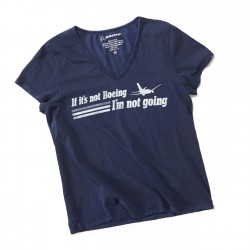 "T-Shirt Boeing FEMME ""IF IT'S NOT BOEING ...."" BLEU MARINE"