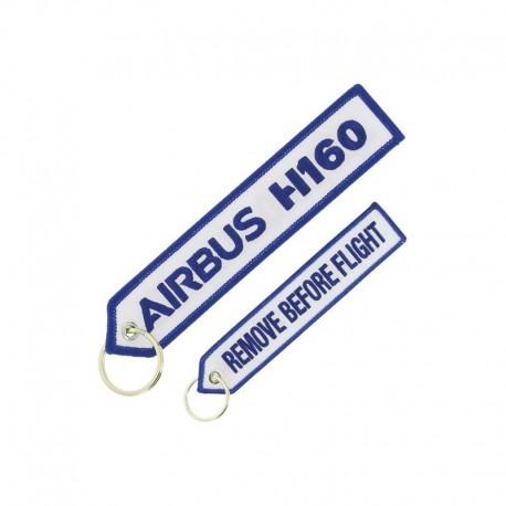 PORTE CLE AIRBUS H160  BLANC/BLEU