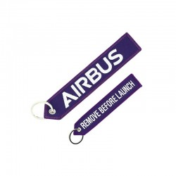 "PORTE CLE AIRBUS  ""Remove before launch"" VIOLET"