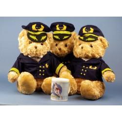 Peluche Ours PILOTE 45 CM / Teddy Pilot Bear