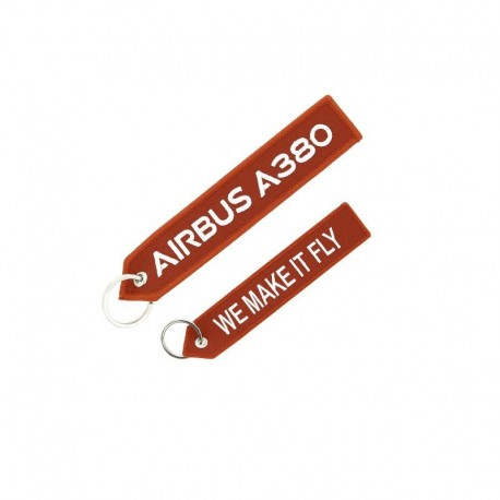 """PORTE CLE AIRBUS A380 """"WE MAKE IT FLY"""""""