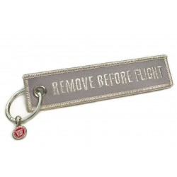 PORTE CLE REMOVE BEFORE FLIGHT ARGENTÉ