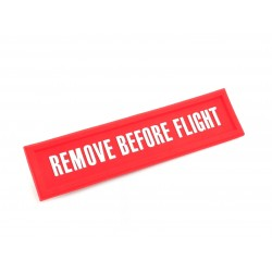 MAGNET RECTANGLE REMOVE BEFORE FLIGHT ROUGE
