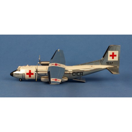 "C-160 Transall Balair ""International Red Cross"" HB-ILN HERPA 1/200"