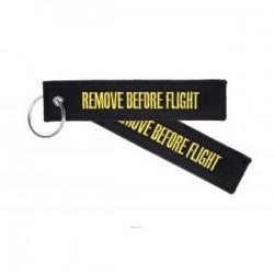PORTE CLE REMOVE BEFORE FLIGHT NOIR