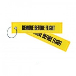 PORTE CLE REMOVE BEFORE FLIGHT JAUNE